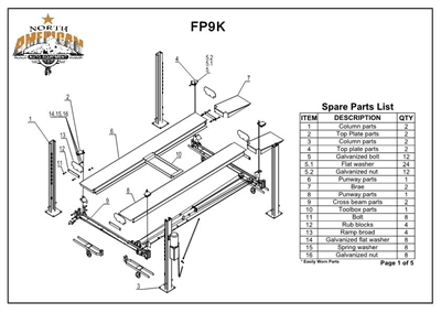 Fp9k Parts Breakdown Replacement Parts For The Fp9k 4