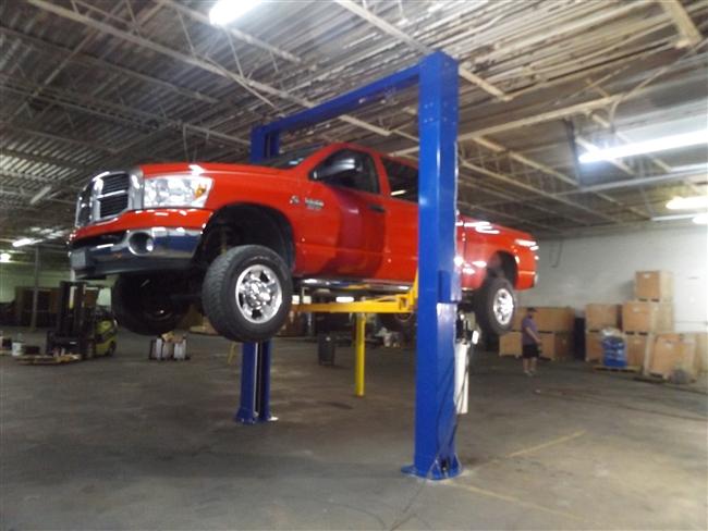 truck overhead 2 post lift