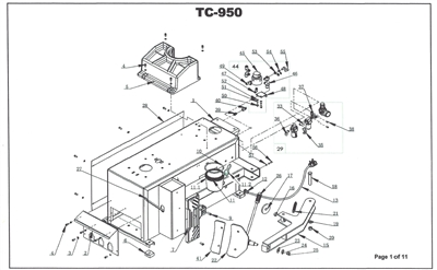 tc-950 parts breakdown